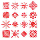 Διανυσματικό snowflake στο ρωσικό ύφος κεντητικής Στοκ φωτογραφία με δικαίωμα ελεύθερης χρήσης