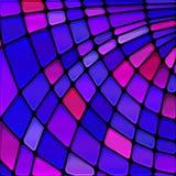 Διανυσματικό stained-glass υπόβαθρο μωσαϊκών στοκ εικόνα