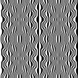 Διανυσματικό trippy σχέδιο γεωμετρίας hipster αφηρημένο με τα λωρίδες, γραπτό άνευ ραφής γεωμετρικό υπόβαθρο Στοκ Εικόνες