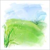 διανυσματικό watercolor τοπίων ανασκόπησης διανυσματική απεικόνιση