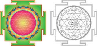 διανυσματικό yantra shri ελεύθερη απεικόνιση δικαιώματος