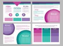 Διανύσματα φωτογραφικών διαφανειών παρουσίασης επιχειρησιακού μάρκετινγκ ελεύθερη απεικόνιση δικαιώματος