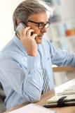 Διαπραγμάτευση επιχειρηματιών στο τηλέφωνο Στοκ εικόνες με δικαίωμα ελεύθερης χρήσης