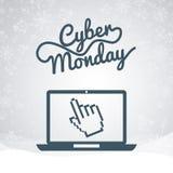 Διαπραγματεύσεις Δευτέρας Cyber διανυσματική απεικόνιση