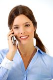 Διαπραγματεύσεις κλεισίματος τηλεφωνικώς στοκ εικόνα με δικαίωμα ελεύθερης χρήσης