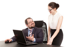 Διαπραγματεύσεις με το γραμματέα Στοκ Εικόνες