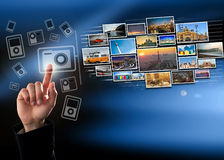 Διαπροσωπεία οθόνης αφής Στοκ φωτογραφίες με δικαίωμα ελεύθερης χρήσης