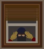 Διαρρήκτης στο παράθυρο απεικόνιση αποθεμάτων
