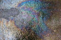 Διαρροή πετρελαίου στην άσφαλτο Στοκ εικόνες με δικαίωμα ελεύθερης χρήσης