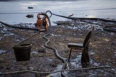 Διαρροή πετρελαίου στην παραλία Στοκ Εικόνα