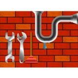 Διαρροή στην επισκευή υδραυλικών υδραυλικών απεικόνιση αποθεμάτων