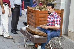 Διασημότερη οδός της Τουρκίας ` s υπάρχουν πολλοί μουσικοί Στοκ εικόνες με δικαίωμα ελεύθερης χρήσης