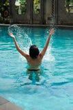 Διασκέδαση κολύμβησης στοκ εικόνα