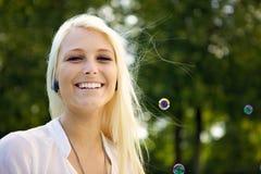 Διασκέδαση με τις φυσαλίδες Στοκ φωτογραφία με δικαίωμα ελεύθερης χρήσης