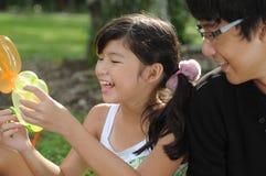 διασκέδαση παιδιών που έχει Στοκ εικόνες με δικαίωμα ελεύθερης χρήσης
