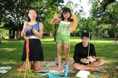 διασκέδαση παιδιών που έχει Στοκ Εικόνες