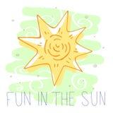 Διασκέδαση στον ήλιο χαριτωμένη διανυσματική απεικόνιση απεικόνιση αποθεμάτων