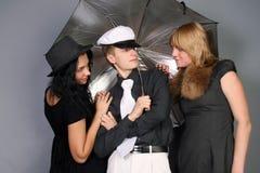 διασκέδαση φίλων που έχε&iot Στοκ Εικόνα