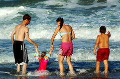 διασκέδαση 3 οικογενειών στοκ εικόνες με δικαίωμα ελεύθερης χρήσης