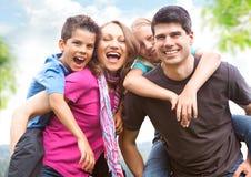 διασκέδαση 7 οικογενει Στοκ Εικόνες