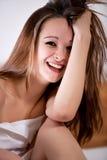 διασκέδαση brunette σπορείων π&omicron Στοκ Εικόνα