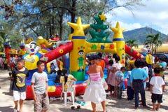 διασκέδαση phuket s Ταϊλάνδη ημέρας παιδιών Στοκ Εικόνα