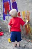 Διασκέδαση ζωγραφικής Στοκ Εικόνα