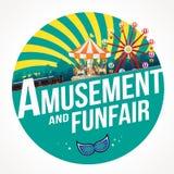 Διασκέδαση και funfair Στοκ φωτογραφία με δικαίωμα ελεύθερης χρήσης