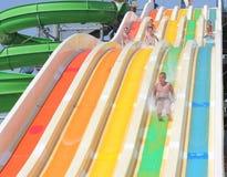 Διασκέδαση στις φωτογραφικές διαφάνειες νερού Στοκ Εικόνες