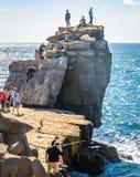 Διασκέδαση στο βράχο Στοκ φωτογραφία με δικαίωμα ελεύθερης χρήσης