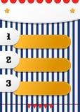 Διασκέδαση τρία που αριθμείται τον κατάλογο θέσεων το διανυσματικό σχέδιο για τα παιδιά Στοκ φωτογραφία με δικαίωμα ελεύθερης χρήσης