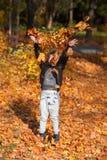 Διασκέδαση φθινοπώρου Στοκ Εικόνες