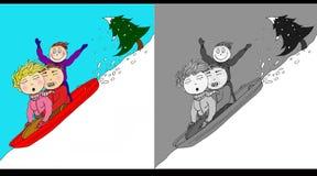 Διασκέδαση χειμερινού χιονιού Στοκ Εικόνα