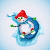 Διασκέδαση χειμερινών διακοπών ανασκόπησης Χριστουγέννων hoiday σύσταση χιονανθρώπων προτύπων άνευ ραφής ελεύθερη απεικόνιση δικαιώματος