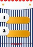 Διασκέδαση δύο που αριθμείται τον κατάλογο θέσεων το διανυσματικό σχέδιο για τα παιδιά Στοκ Εικόνες