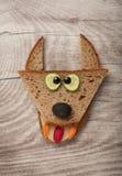 Διασκεδάζοντας λύκος φιαγμένος από ψωμί Στοκ φωτογραφία με δικαίωμα ελεύθερης χρήσης