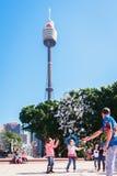 Διασκεδαστής οδών στο Σίδνεϊ, Αυστραλία, τον Απρίλιο του 2012 Στοκ Εικόνα