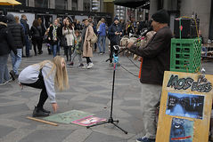 Διασκεδαστής οδών Στοκ φωτογραφίες με δικαίωμα ελεύθερης χρήσης