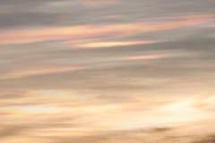 Διασκορπίζοντας φως του ήλιου στο σύννεφο Στοκ Εικόνες