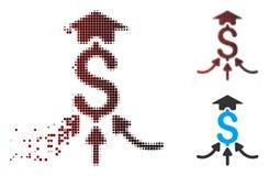 Διασκορπισμένο εικονίδιο Aggregator εικονοκυττάρου ημίτονο οικονομικό Απεικόνιση αποθεμάτων