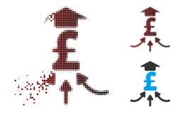 Διασκορπισμένο εικονοκυττάρου ημίτονο εικονίδιο Aggregator λιβρών οικονομικό Διανυσματική απεικόνιση