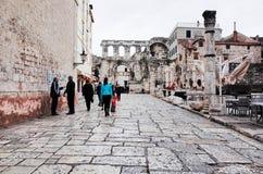 Διασπασμένη παλαιά πόλη ` s, ΔΙΆΣΠΑΣΗ, ΚΡΟΑΤΊΑ στοκ φωτογραφία με δικαίωμα ελεύθερης χρήσης