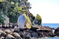 Διασπασμένος βράχος της Apple στο Abel Tasman Στοκ εικόνες με δικαίωμα ελεύθερης χρήσης