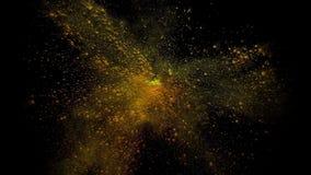 Διασπορά του χρωματισμένου ξηρού χρώματος σε ένα μαύρο υπόβαθρο HD απόθεμα βίντεο