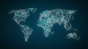 Διαστίζει τη συνδέοντας γραμμή, τα σημεία κάνουν το σφαιρικό παγκόσμιο χάρτη, Διαδίκτυο των πραγμάτων 2 ελεύθερη απεικόνιση δικαιώματος
