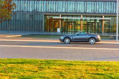 Διασταυρούμενα πυρά Chrysler, πριν από την οικοδόμηση διοίκησης Thysse Στοκ φωτογραφία με δικαίωμα ελεύθερης χρήσης