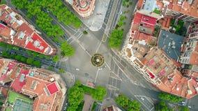 Διασταύρωση κυκλικής κυκλοφορίας στη Βαρκελώνη φιλμ μικρού μήκους