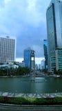 Διασταύρωση κυκλικής κυκλοφορίας της Ινδονησίας ξενοδοχείων στοκ εικόνες