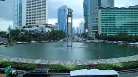Διασταύρωση κυκλικής κυκλοφορίας της Ινδονησίας ξενοδοχείων στοκ εικόνα