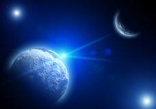 διαστημικά αστέρια πλανητών τοπίων διανυσματική απεικόνιση